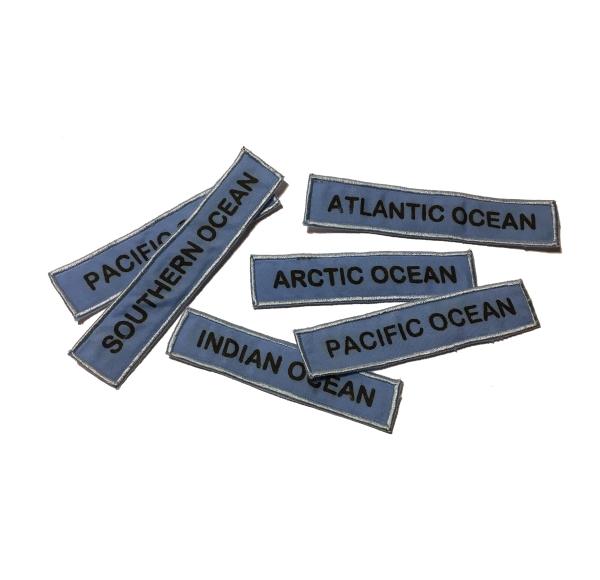 Oceaner Världskarta ENG